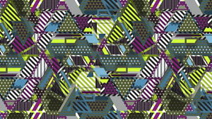 Complex intricate geometric abstract pattern