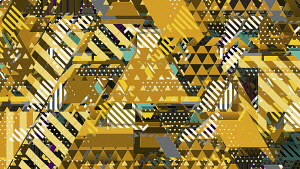 Complex chaotic geometric abstract pattern