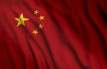 Close up of Chinese flag