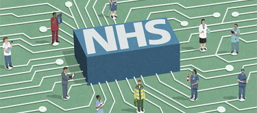 Accessing the NHS using computer technology