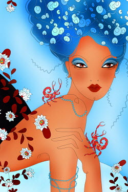Beautiful woman as Scorpio zodiac sign