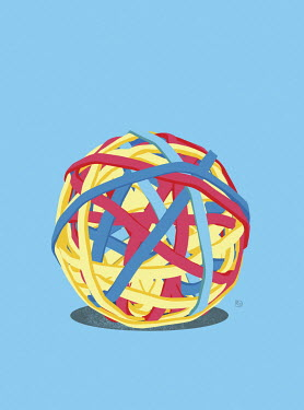 Ball of elastic bands