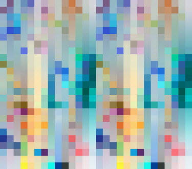 multi coloured abstract pixel pattern