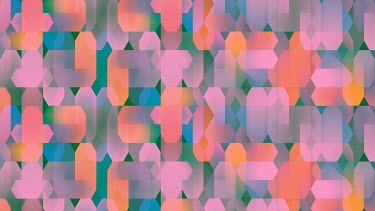 Geometric full frame abstract pattern