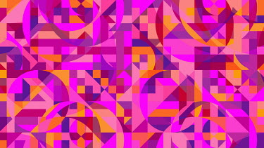 Bright pink geometric abstract mosaic pattern