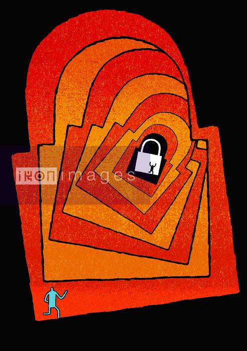 Tim Ellis - Man at base of secure padlock