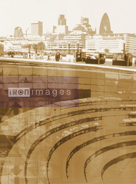 BK04057 - Steps with city skyline - Paul Price