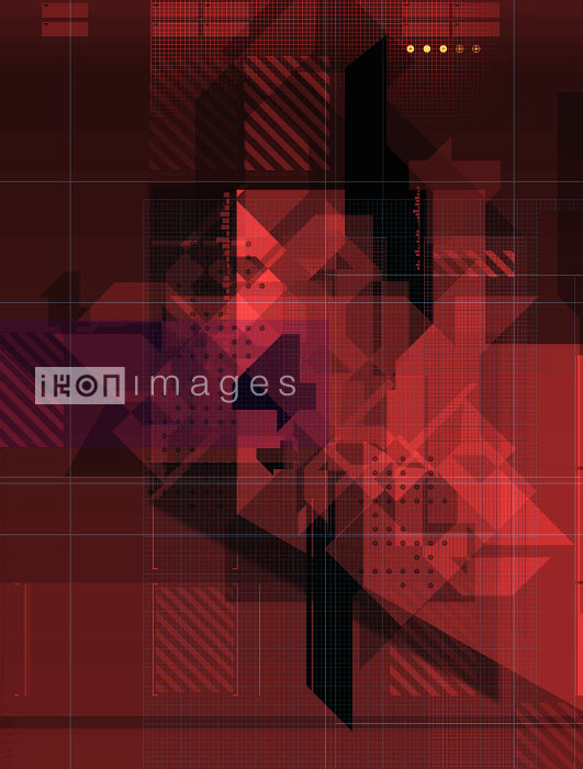 438023.TIF - Abstract red geometric pattern - Paul Price