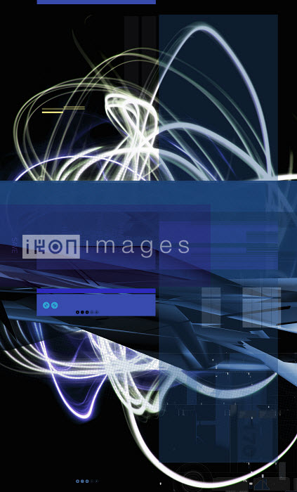 Blue squares and light trails - Blue squares and light trails - Paul Price