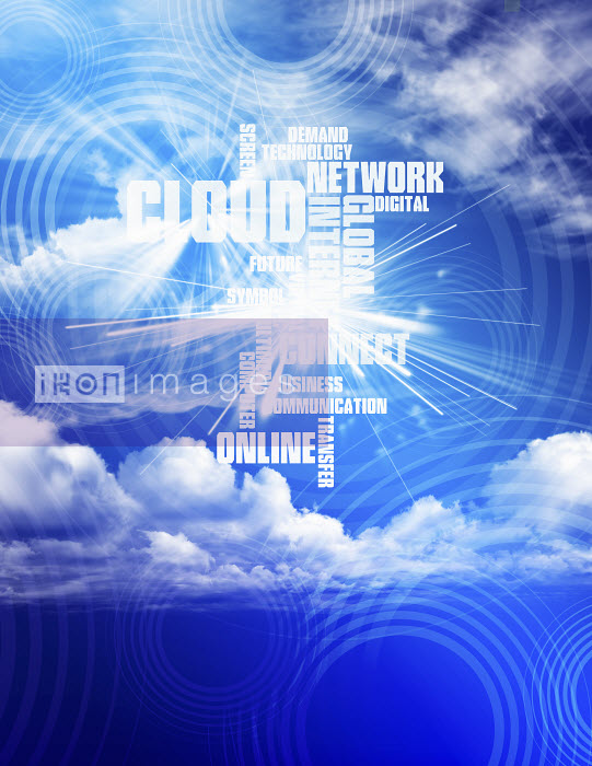 Computing buzzwords against cloudy blue sky - Computing buzzwords against cloudy blue sky - Paul Price