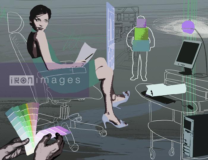 Interior designer working in office - Interior designer working in office - Marina Caruso