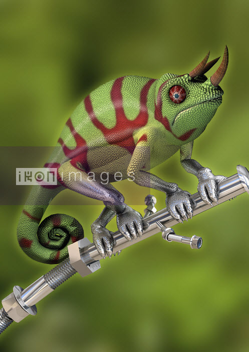 Robotic hybrid chameleon - Robotic hybrid chameleon - Oliver Burston