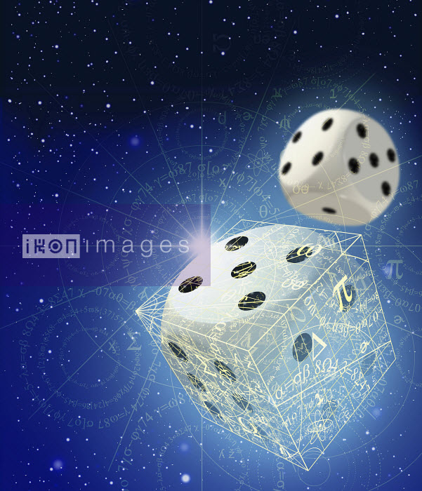 Dice and mathematical equations in space - Dice and mathematical equations in space - Oliver Burston