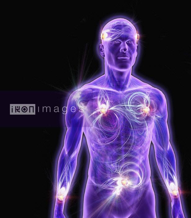 Illuminated life force man - Illuminated life force man - Oliver Burston