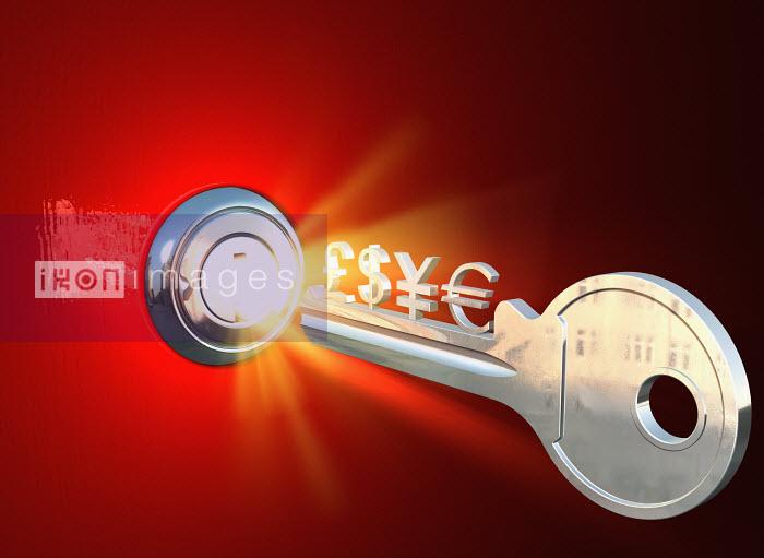 Key and glowing lock - Key and glowing lock - Oliver Burston