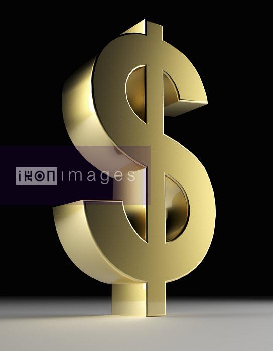 Close up of gold dollar sign - Close up of gold dollar sign - Oliver Burston