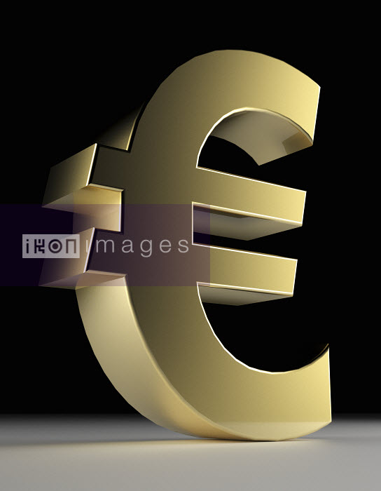 Close up of gold Euro symbol - Close up of gold Euro symbol - Oliver Burston