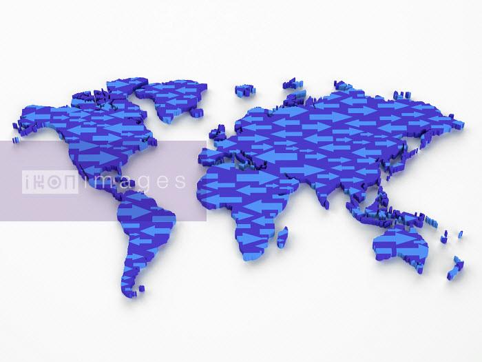 Arrows in shape of world map - Arrows in shape of world map - Oliver Burston