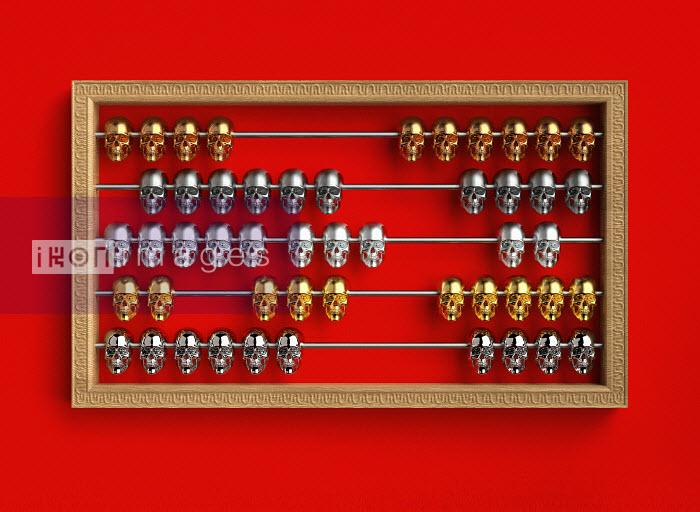 Skulls on abacus - Skulls on abacus - Oliver Burston