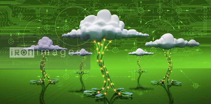 Cloud computing with usb cables and circuit board - Cloud computing with usb cables and circuit board - Oliver Burston