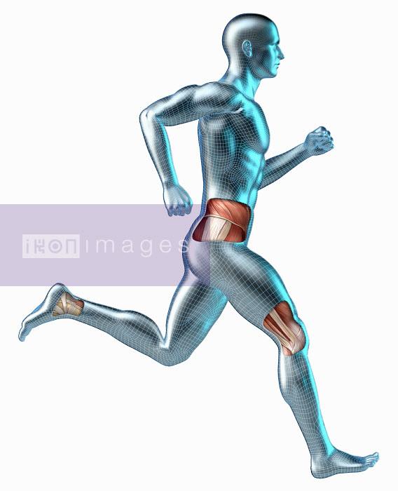 Revealed muscles on running android - Revealed muscles on running android - Oliver Burston