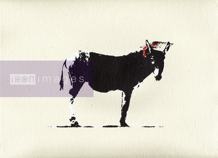 Smart ass donkey wearing mortar board - Katie Edwards