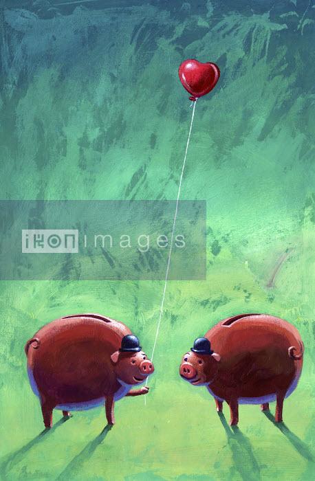 Business pigs in love - Business pigs in love - Jon Berkeley