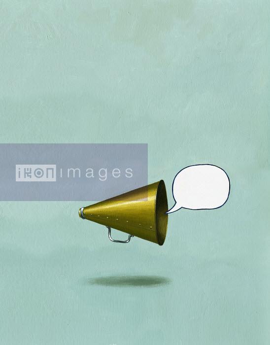 Bullhorn yelling empty message - Bullhorn yelling empty message - Jon Berkeley