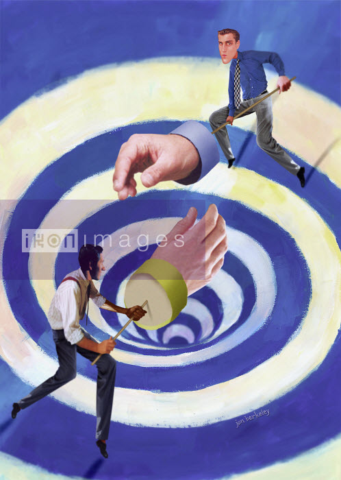 Businessmen negotiating with large hands - Businessmen negotiating with large hands - Jon Berkeley