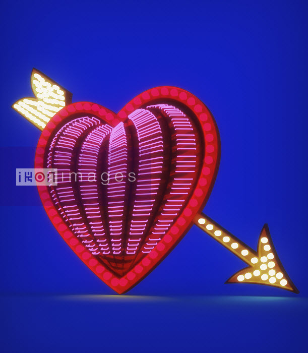 Peter Crowther - Arrow through neon heart
