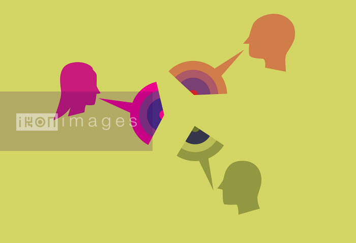 People with colorful speech bubbles - People with colorful speech bubbles - Andrew Baker