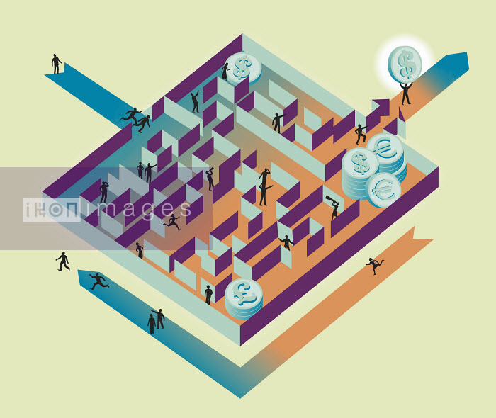 People inside of global finance money maze - People inside of global finance money maze - Andrew Baker