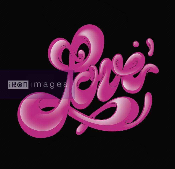 "Stylized cursive word ""love"" - Stylized cursive word ""love"" - Alex Trochut"