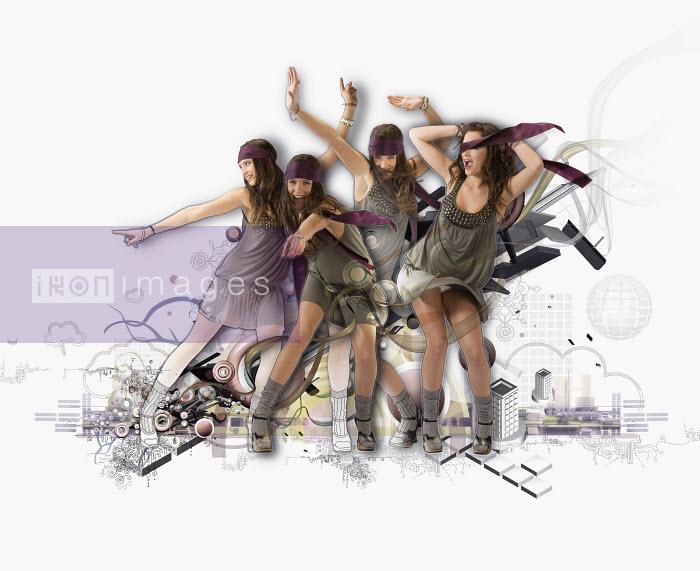 Multiple exposure of woman dancing in nightclub - Multiple exposure of woman dancing in nightclub - Jason Jaroslav Cook & Maria Teijeiro