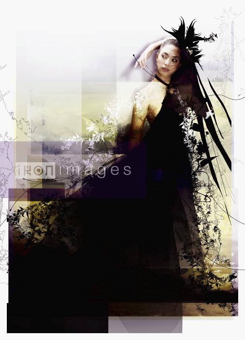 Elegant woman in abstract evening gown - Elegant woman in abstract evening gown - Jason Jaroslav Cook & Maria Teijeiro