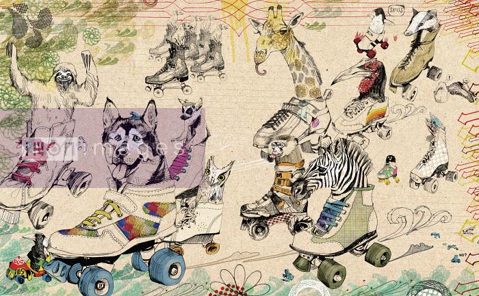 Animals riding in roller skates - Animals riding in roller skates - Andy MacGregor