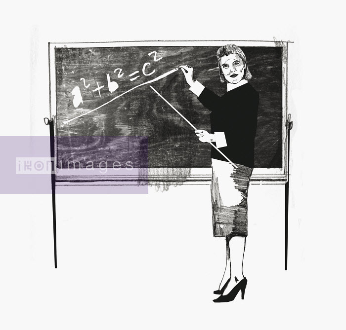 Woman teaching math - Woman teaching math - Andy MacGregor