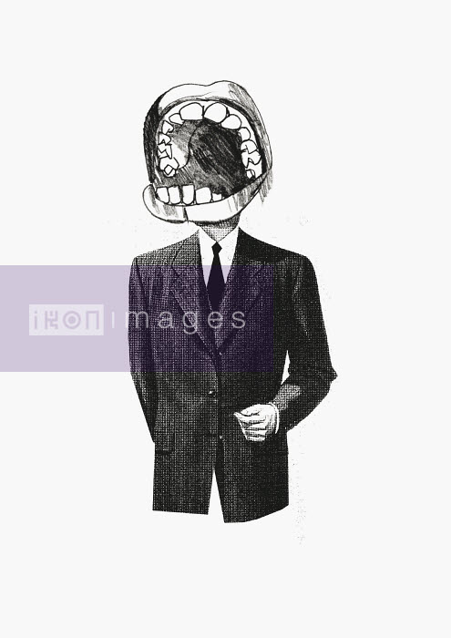 Businessman with large mouth for head - Businessman with large mouth for head - Andy MacGregor