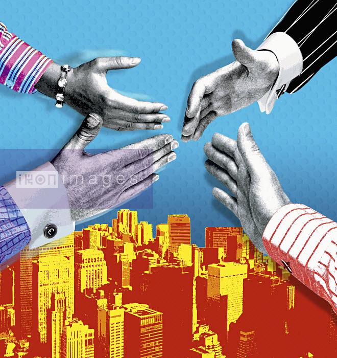 Business people shaking hands - Business people shaking hands - Matt Herring