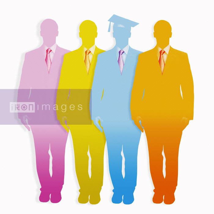 Graduate among multicolored businessmen - Graduate among multicolored businessmen - Matt Herring