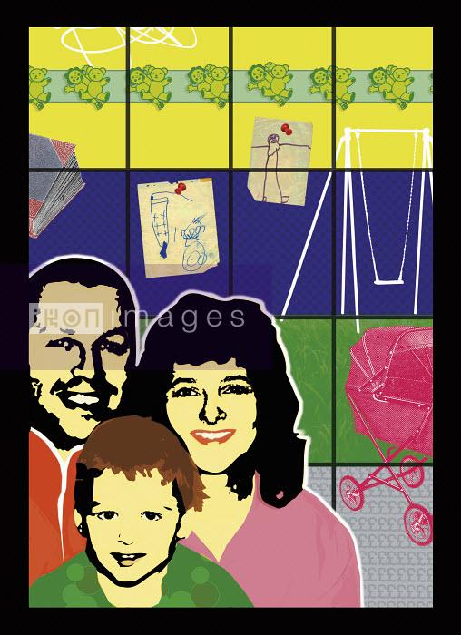 Portrait of happy family - Portrait of happy family - Matt Herring