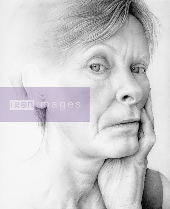 Close up of aging woman - Close up of aging woman - Cath Riley