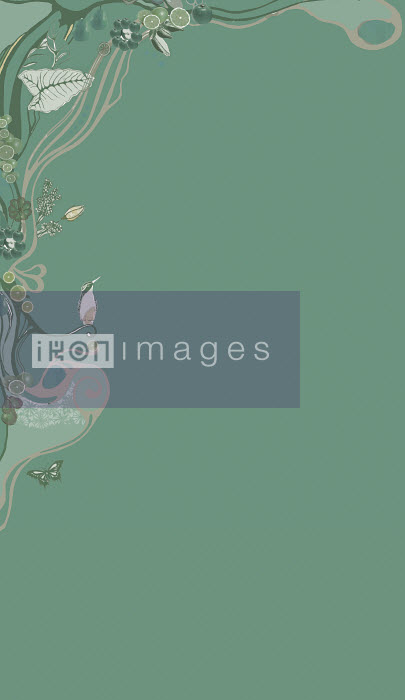 Vine and floral border - Vine and floral border - ContainerPLUS