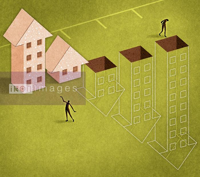 Graph of arrow houses ascending and descending - Graph of arrow houses ascending and descending - Matt Kenyon