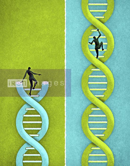 People climbing strands of DNA - People climbing strands of DNA - Matt Kenyon