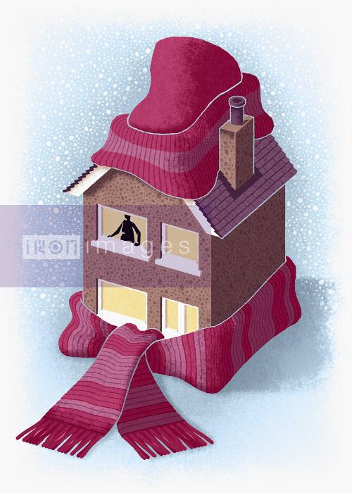 House wrapped up in cap and scarf - House wrapped up in cap and scarf - Matt Kenyon