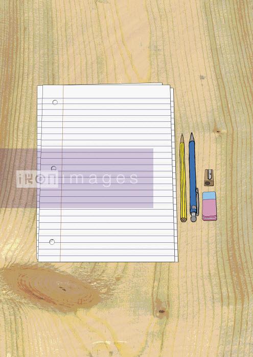 Paper, pencils, eraser and sharpener - Paper, pencils, eraser and sharpener - Oliver Hydes