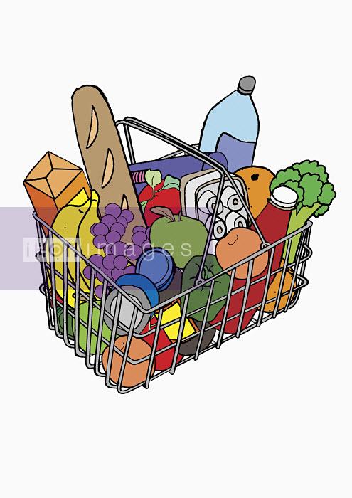 Basket full of groceries - Basket full of groceries - Oliver Hydes