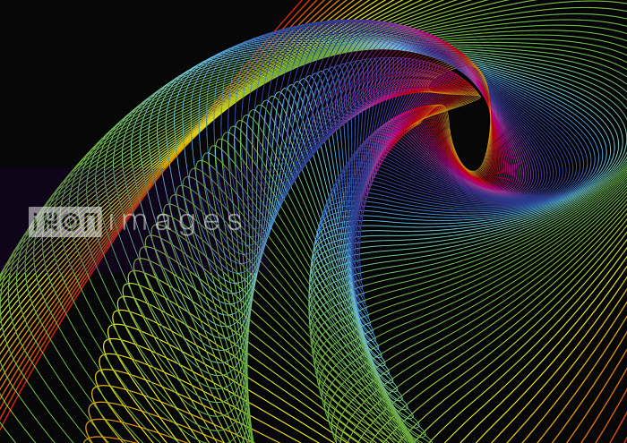 Swirling rainbow colored lines - Swirling rainbow colored lines - David Angel