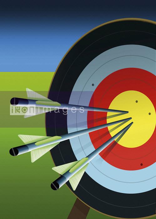 Three arrows in center of target - Three arrows in center of target - David Angel